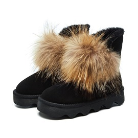 Ericdress Round Toe Faux Fur Slip-On Women's Snow Boots