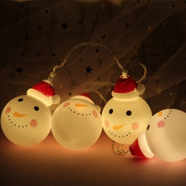 Ericdress Christmas LED Light String White Ball Snowman Light String