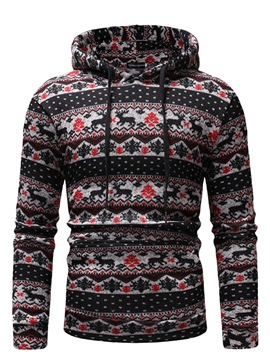 Ericdress Christmas Print Pullover Hooded Mens Casual Hoodies