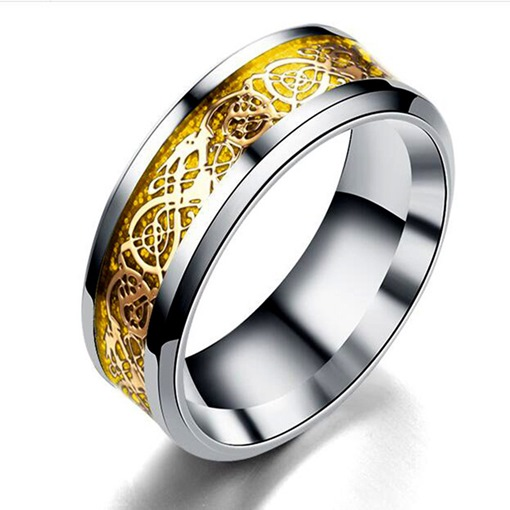 Ericdress Golden Stainless Steel Rings