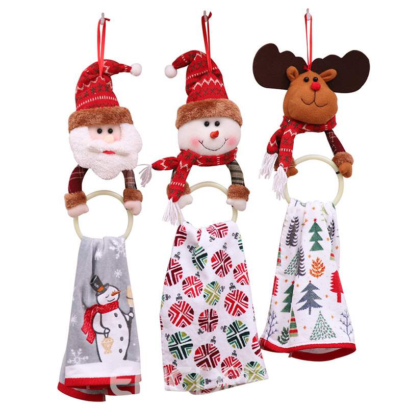 Ericdress Christmas Household Pendant Towel Ring