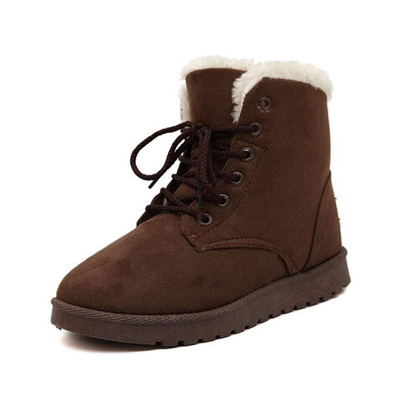 Ericdress Round Toe Platform Lace-Up Front Women's Snow Boots