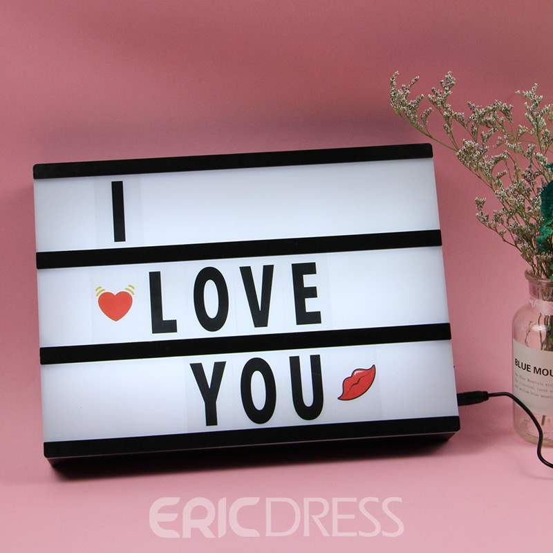 Ericdress Hot Style LED Letters Light Up A4 Light Box Diy
