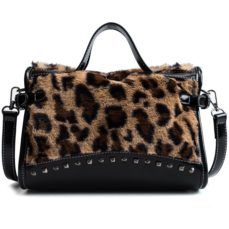 Ericdress Warm Leopard Thread Rectangle Tote Bags