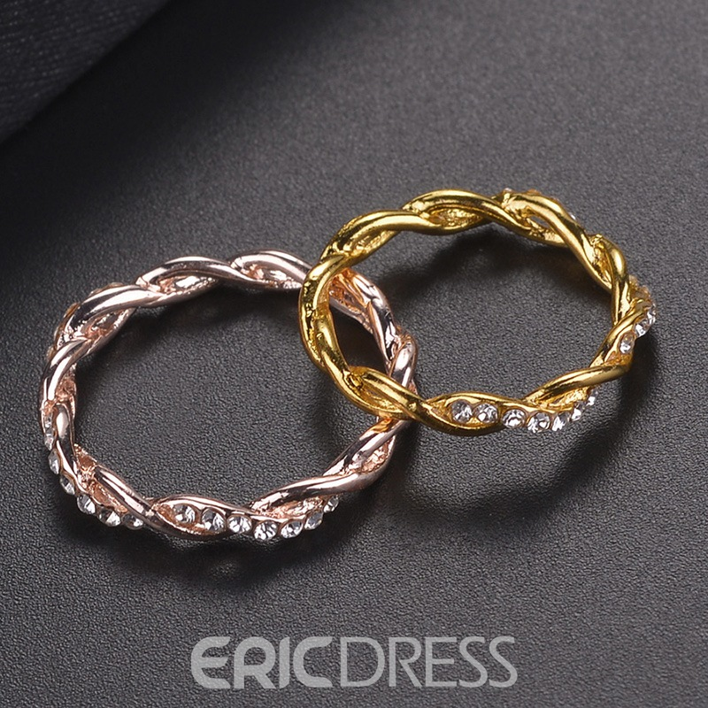 Ericdress Cross Diamante Rings