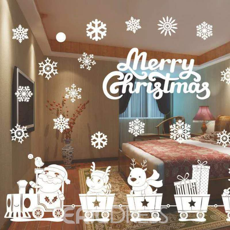 Ericdress Christmas Window Glass Background Wall Paste