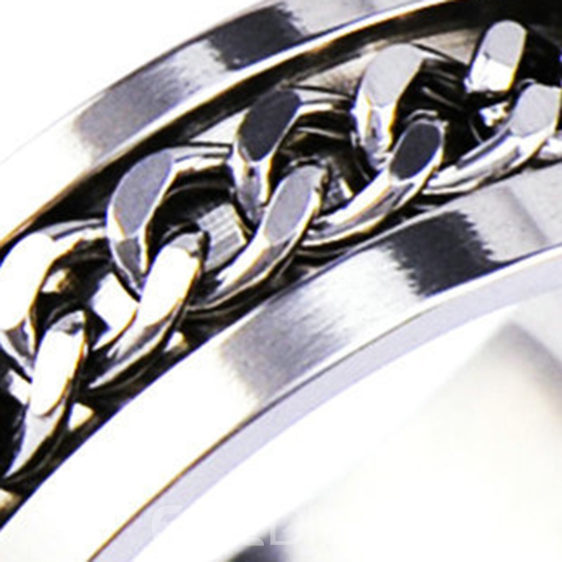 Ericdress Titanium Steel Men Ring