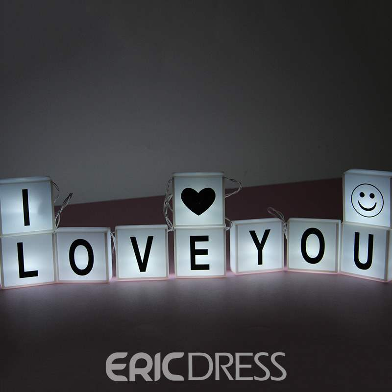 Ericdress Hot Style Alphabet Light Box Light Chain 10 Red Bright Letter Decoration