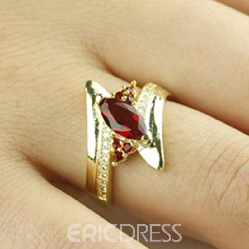 Ericdress Horse Eye Colour Diamante Ring