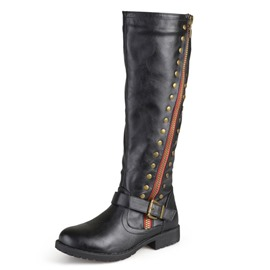 Ericdress Rivet Side Zipper Block Heel Women's Knee High Boots