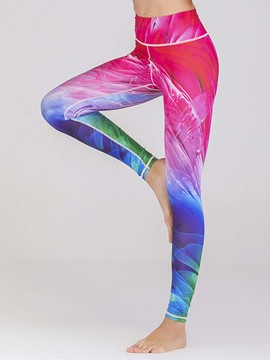 Ericdress Quick Dry Colorful Print Leggings