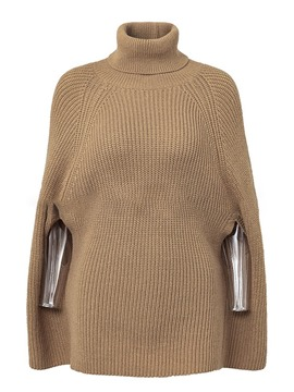 Ericdress Batwing Sleeve Thin Mid-Length Turtleneck Sweater