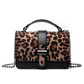 Ericdress Leopard PU Thread Flap Crossbody Bags