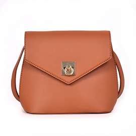 Ericdress Thread PU Plain Envelope Crossbody Bags