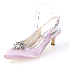 Ericdress Pointed Toe Buckle Slingback Strap Wedding Shoes