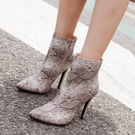 Ericdress Side Zipper Stiletto Heel Pointed Toe Women's Ankle Boots