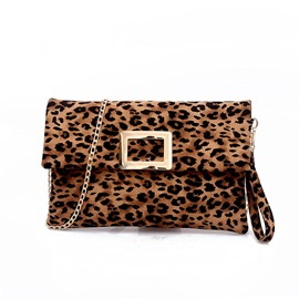 Ericdress Thread Leopard Rectangle Crossbody Bags