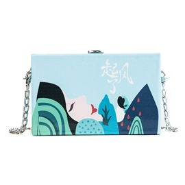 Ericdress Fresh Chinese Print Trunk Crossbody Bags