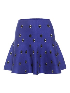 Ericdress A-Line Eyes Print Jacquard Women's Mini Skirt