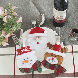 Ericdress Christmas Santa Knife & Fork Set