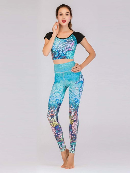 Ericdress Anti-Sweat Patchwork Color Block Sports Sets