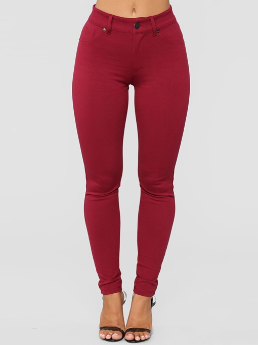 Ericdress Plain High-Waist Pocket Women's Leggings Pants
