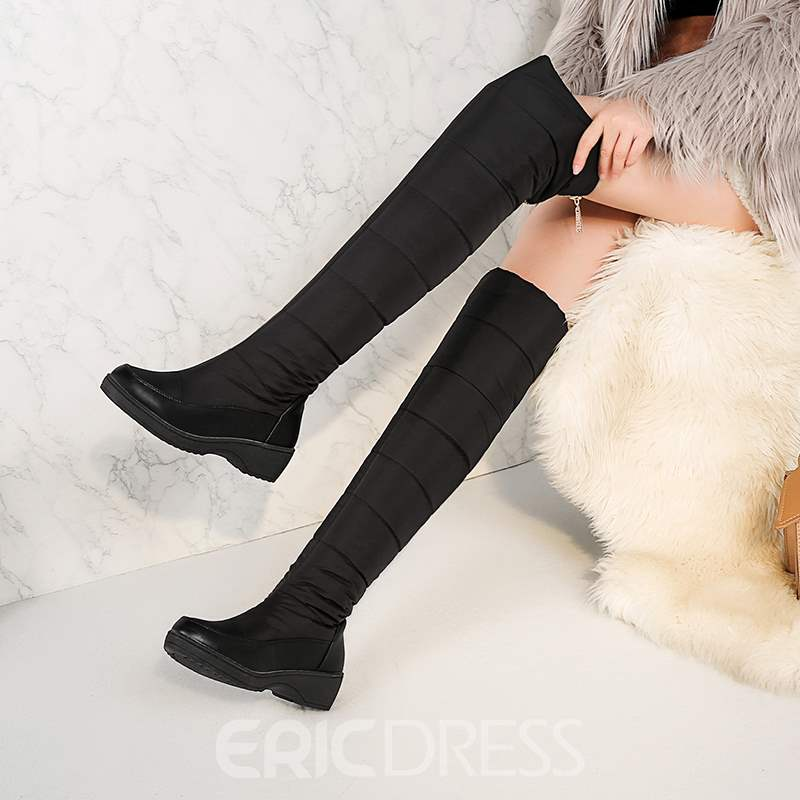 Ericdress Classic Warm Over Knee High Boots
