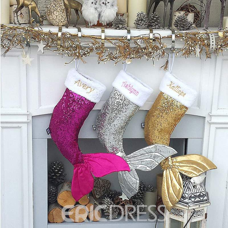 Ericdress Sequined Christmas Fishtail Stocking