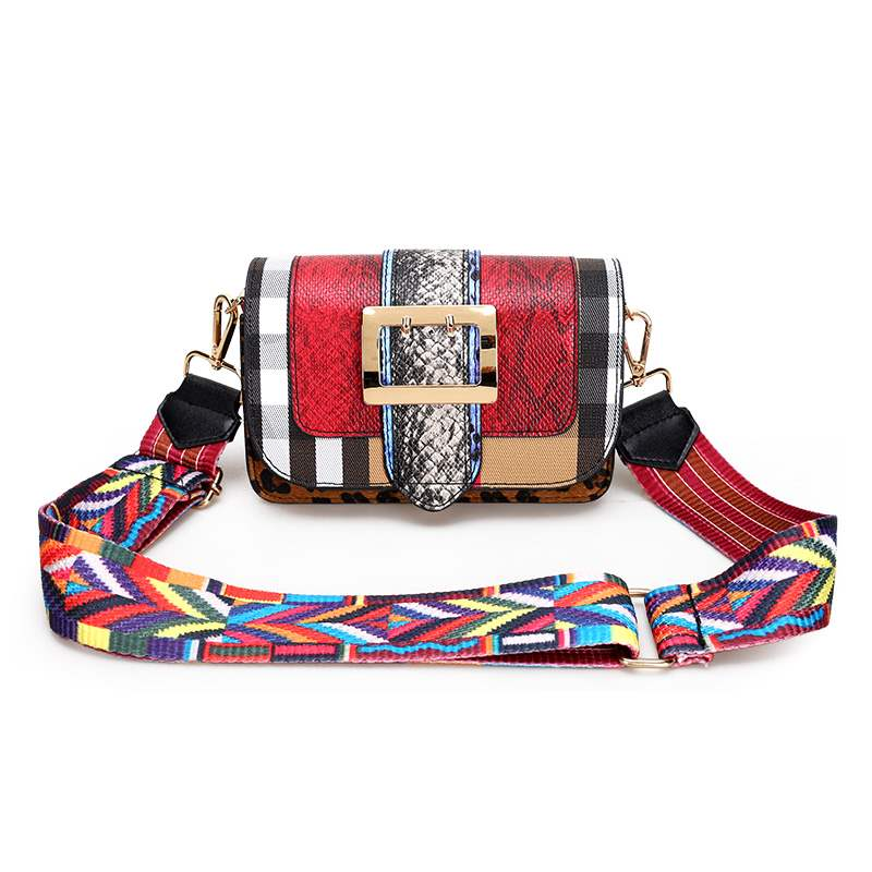 Ericdress Serpentine National style Patchwork Flap Crossbody Bags