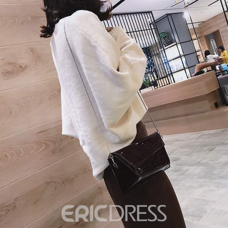 Ericdress Patchwork PU Rectangle Color Block Crossbody Bags