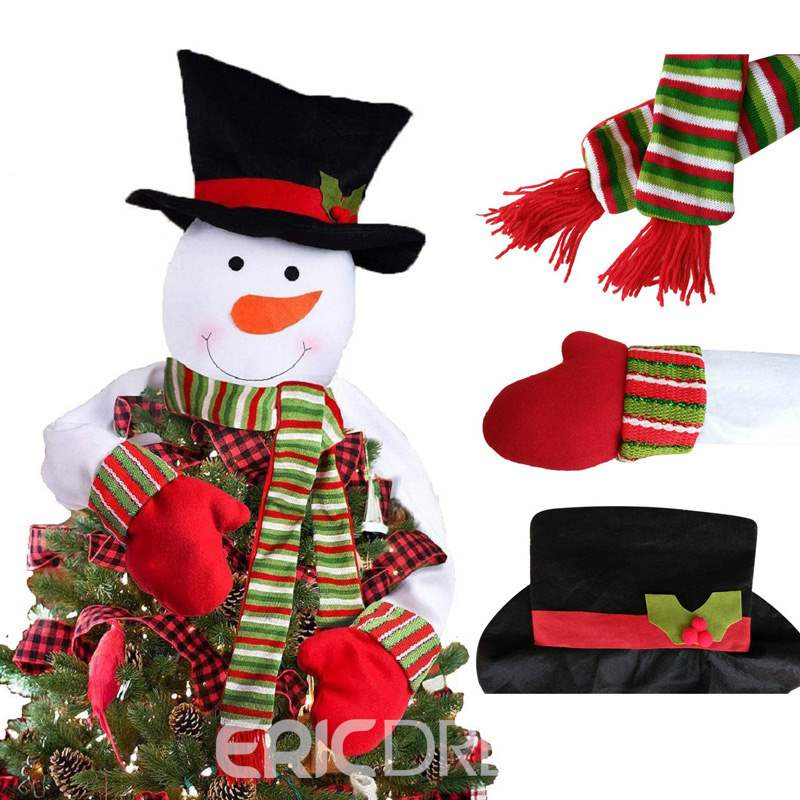 Ericdress Christmas Tree Top Snowman Ornament