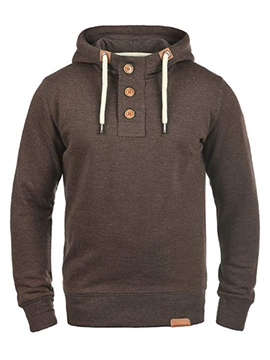Ericdress Plain Button Pullover Mens Casual Hoodies