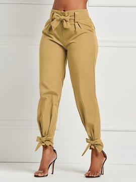 Ericdress Bowknot Plain Loose Women's Pants