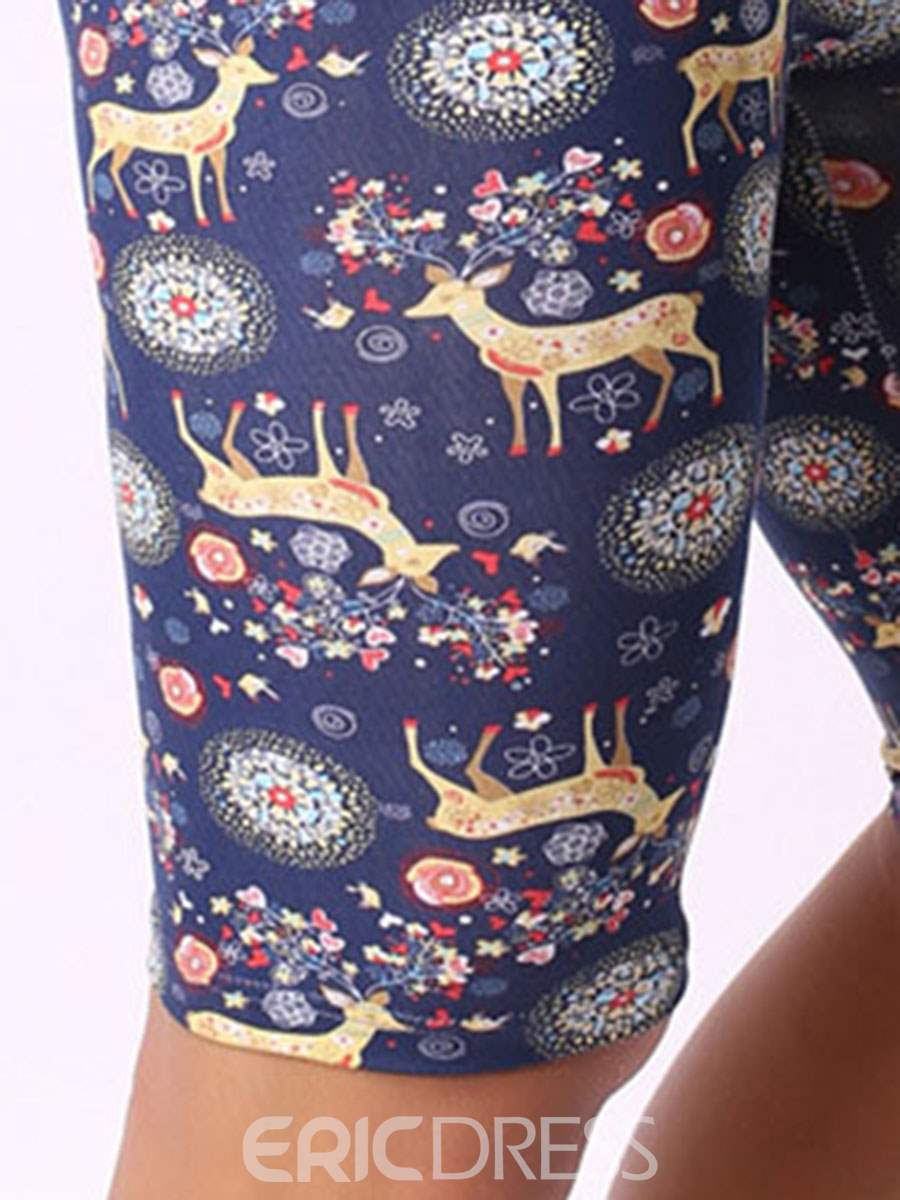 Ericdress Christmas Floral Print Cotton Men's Underwear