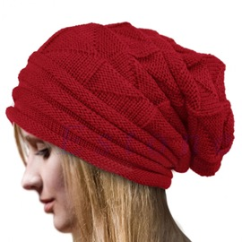 Ericdress Pure Color Knitted Winter Hat