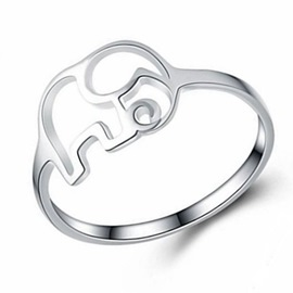 Ericdress Silver Elephant Ring