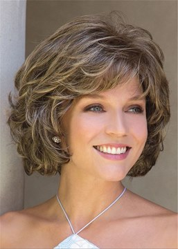 Ericdress Short Layered Shaggy Hairstyle Bob With Softly Swept Bangs Synthetic Hair Lace Front Wigs 14 Inches