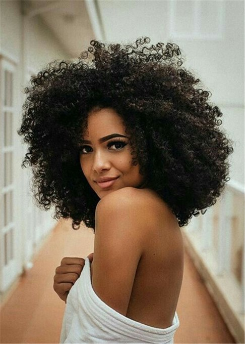 Ericdress Big Afro Curly Synthetic Hair Capless African American Wig