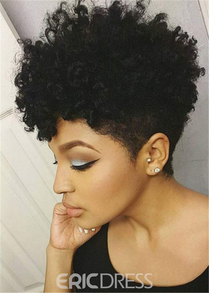 Ericdress African American Short Afro Curly