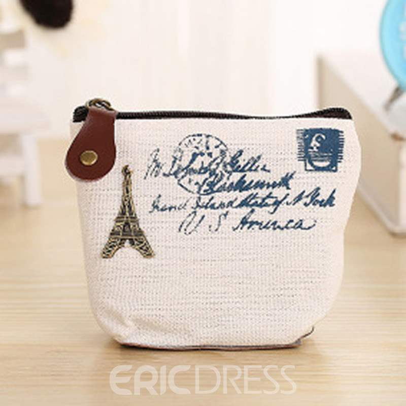 Ericdress Letter Korean Canvas Key Holders