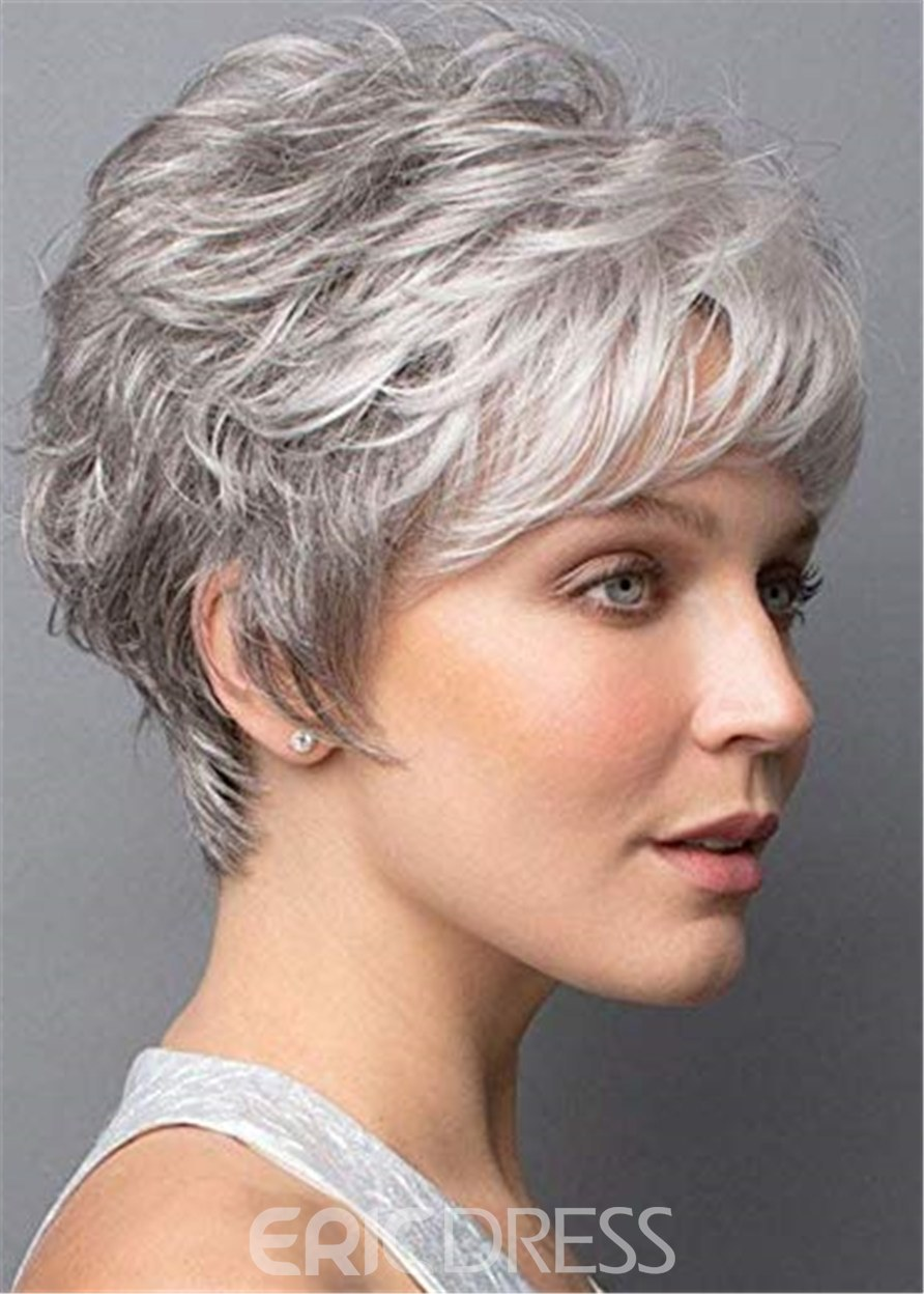 Ericdress Short Wig With Softly Swept Bangs Synthetic Hair Wig