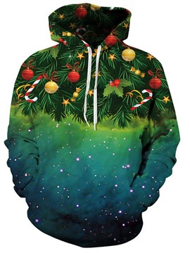 Ericdress Christmas Plant Regular Print Long Sleeve Standard Hoodie