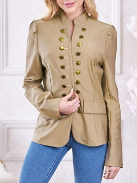 Ericdress Plain Long Sleeve Double-Breasted Fall Western Blazer