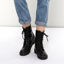 Ericdress Lace-Up Block Heel Women's Martin Boots