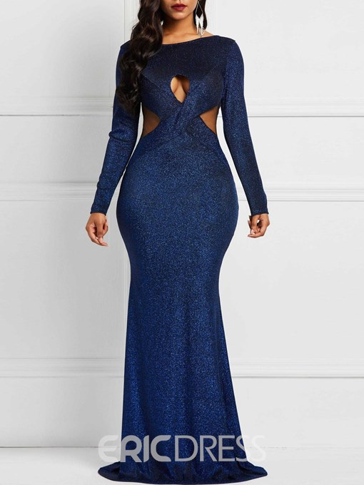 Ericdress Long Sleeve Backless Merimaid Party Dresses