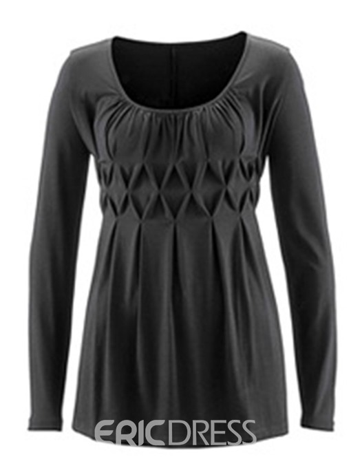 Ericdress Round Neck Mid-Length Long Sleeve Fall T-Shirt