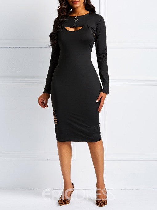 Ericdress Long Sleeves Office Lady Bodycon Women's Dress
