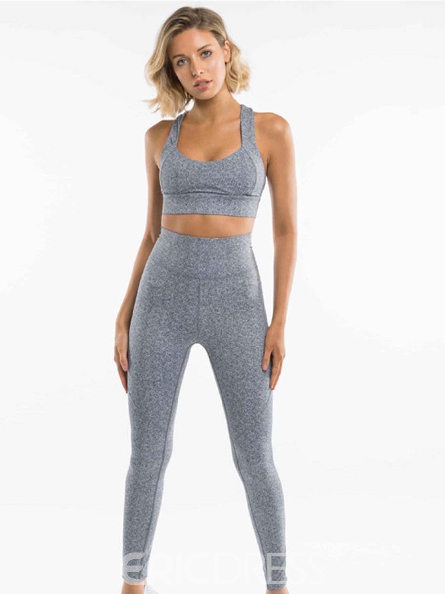 Ericdress Anti-Sweat Solid Full Length Sports Sets