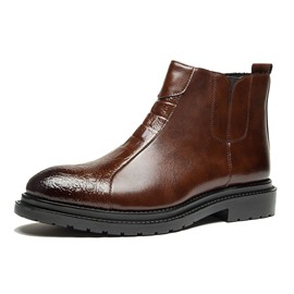 Ericdress PU Round Toe Side Zipper Men's Work Boots