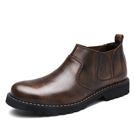 Ericdress PU Round Toe Elastic Men's Work Boots